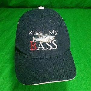 Kiss My Bass Dad Hat Strapback Fishing Cap